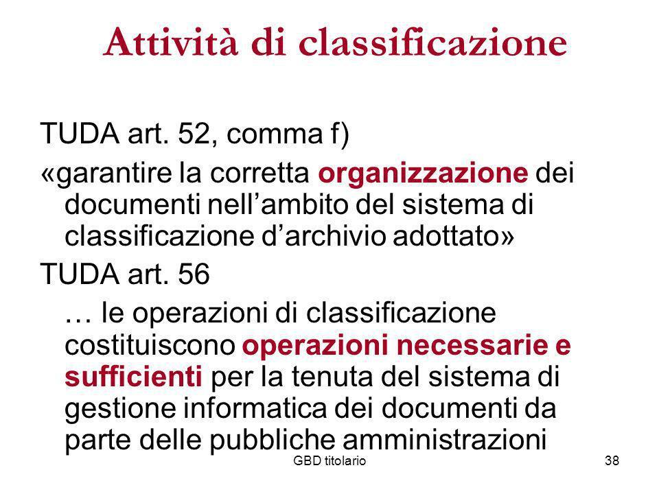 Attività di classificazione