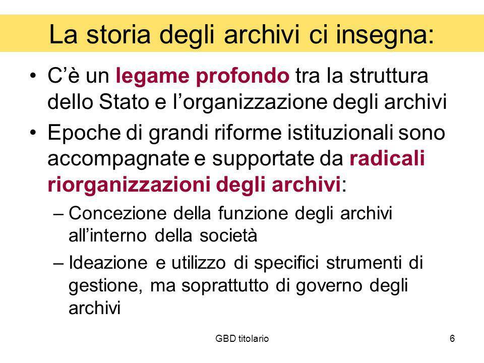 La storia degli archivi ci insegna:
