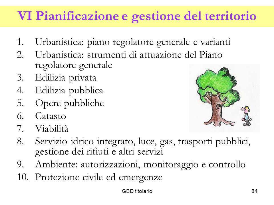 VI Pianificazione e gestione del territorio