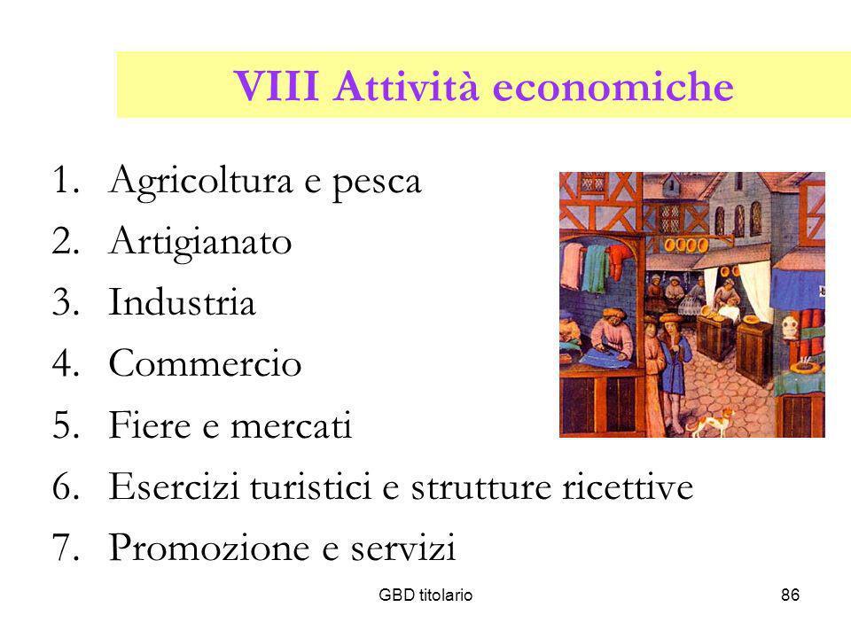 VIII Attività economiche