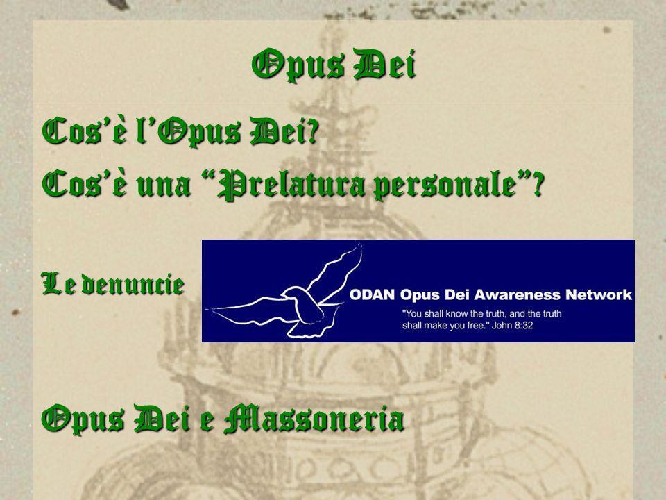 Opus Dei Cos'è l'Opus Dei Cos'è una Prelatura personale