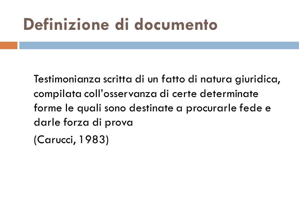 Definizione di documento