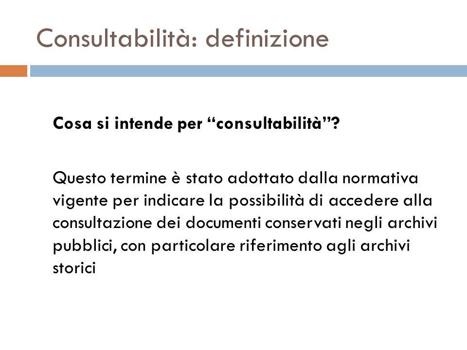 Consultabilità: definizione