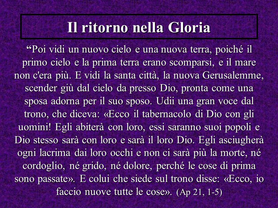 Il ritorno nella Gloria