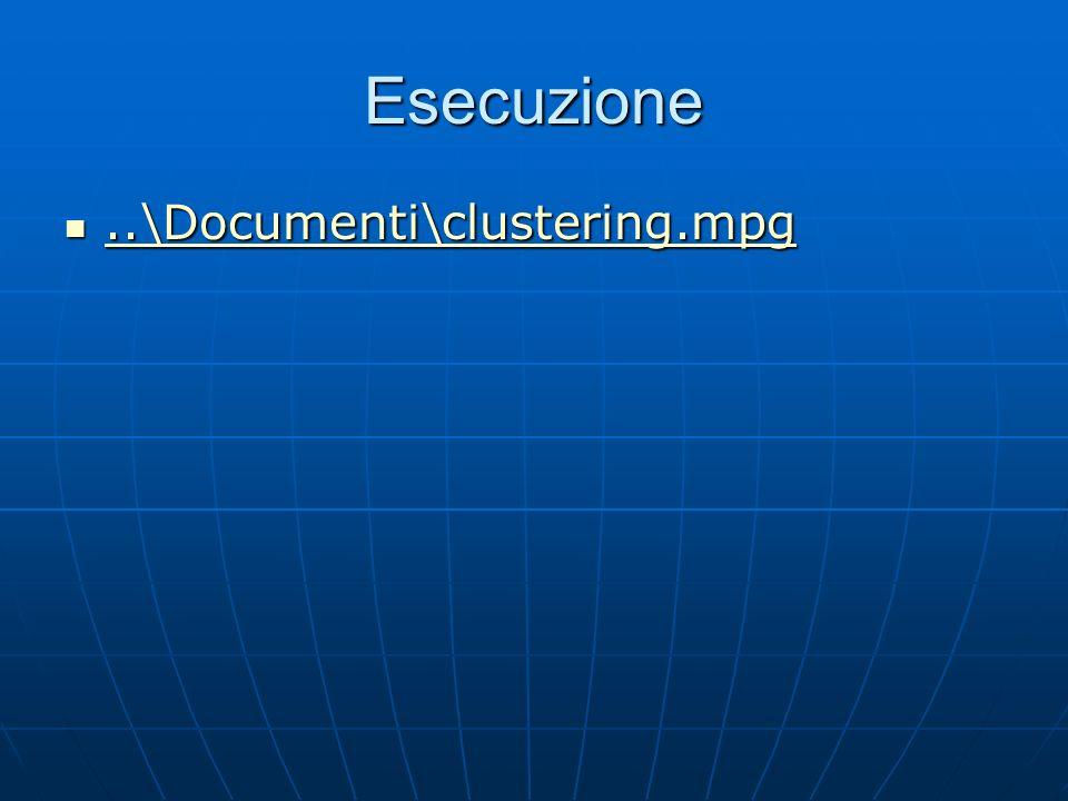 Esecuzione ..\Documenti\clustering.mpg