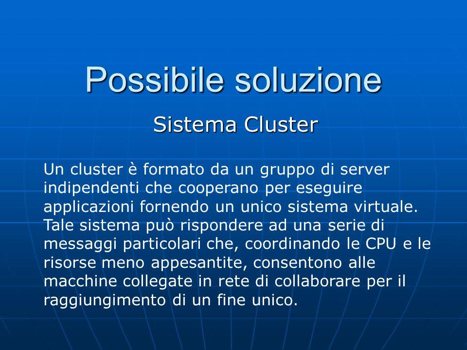 Possibile soluzione Sistema Cluster