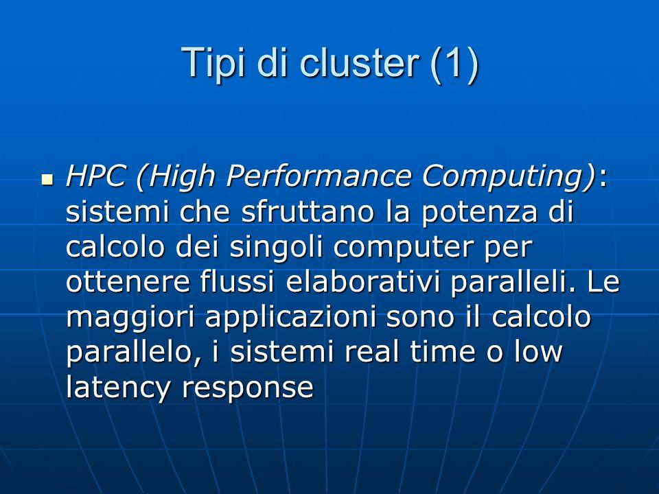 Tipi di cluster (1)