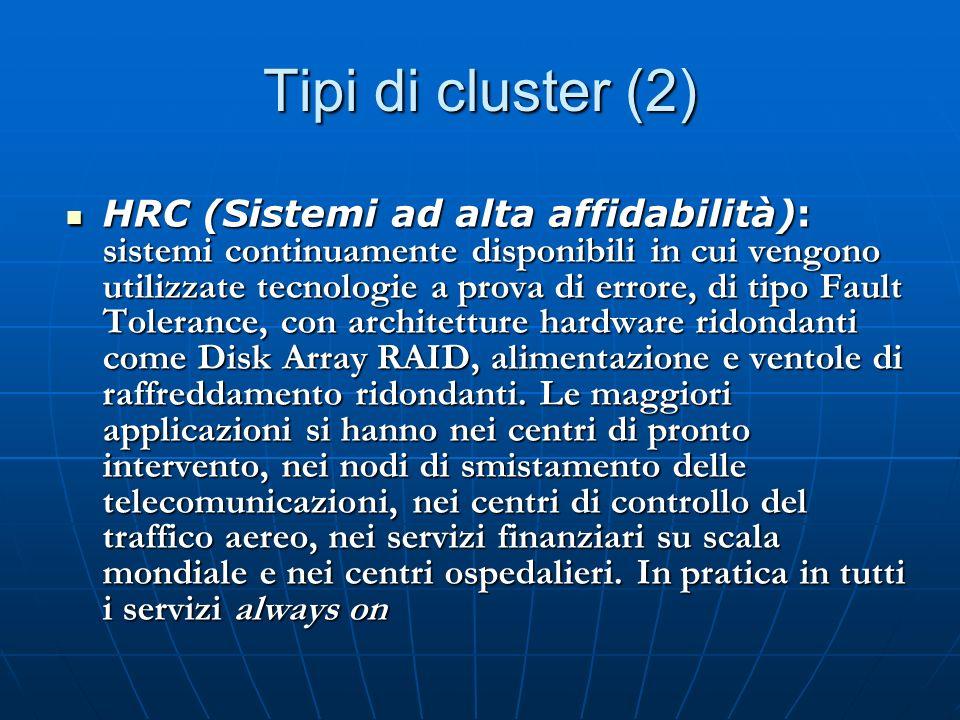 Tipi di cluster (2)