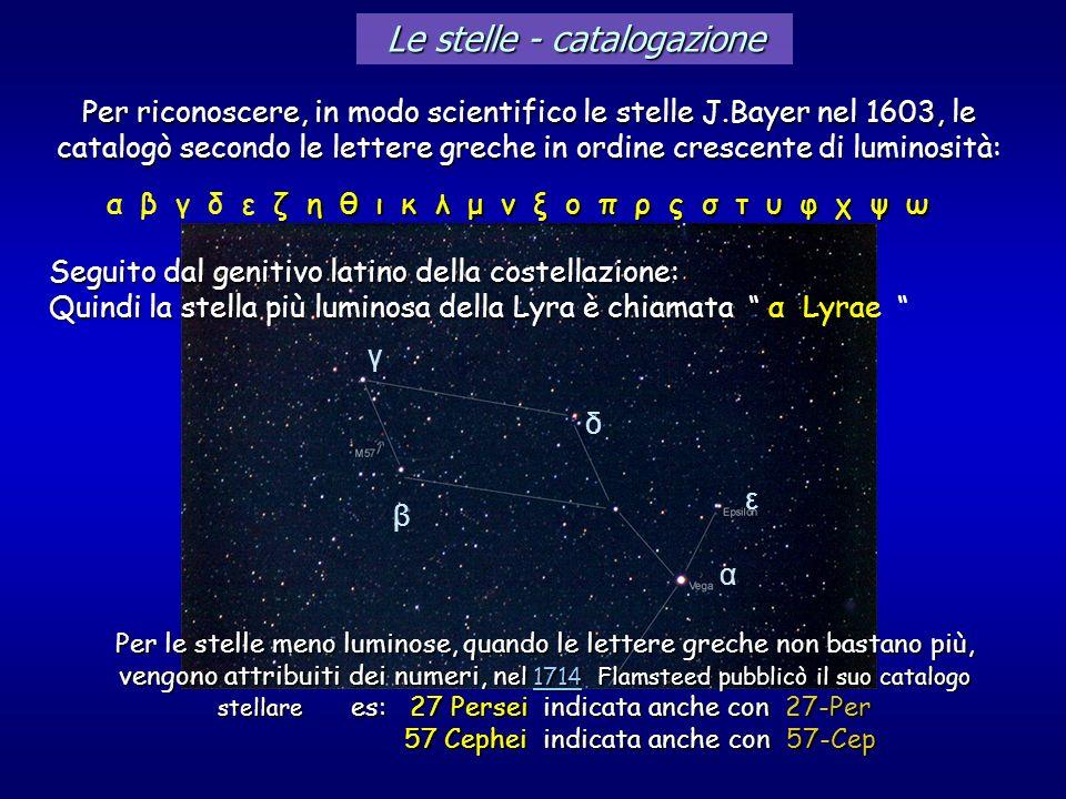 Le stelle - catalogazione