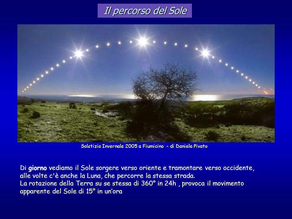 Il percorso del Sole Solstizio Invernale 2005 a Fiumicino - di Daniele Pivato.