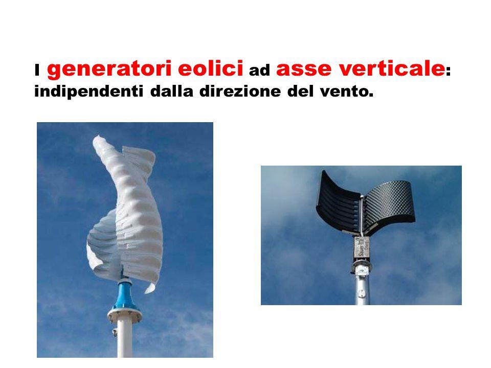 I generatori eolici ad asse verticale: indipendenti dalla direzione del vento.