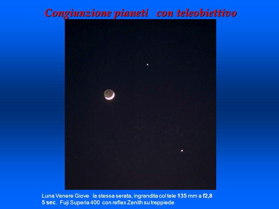 Congiunzione pianeti con teleobiettivo