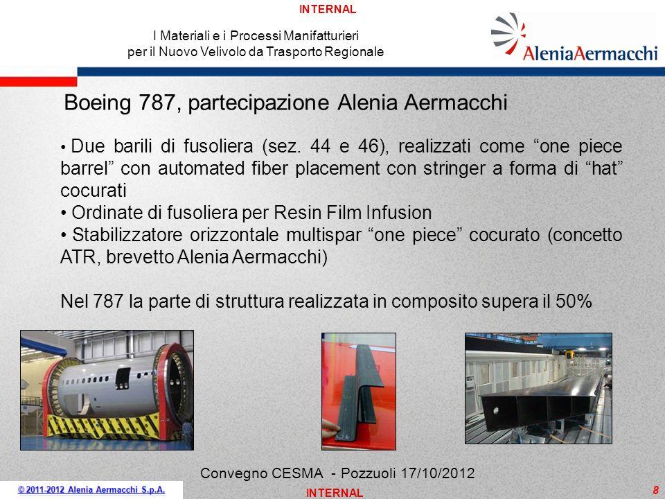 Boeing 787, partecipazione Alenia Aermacchi