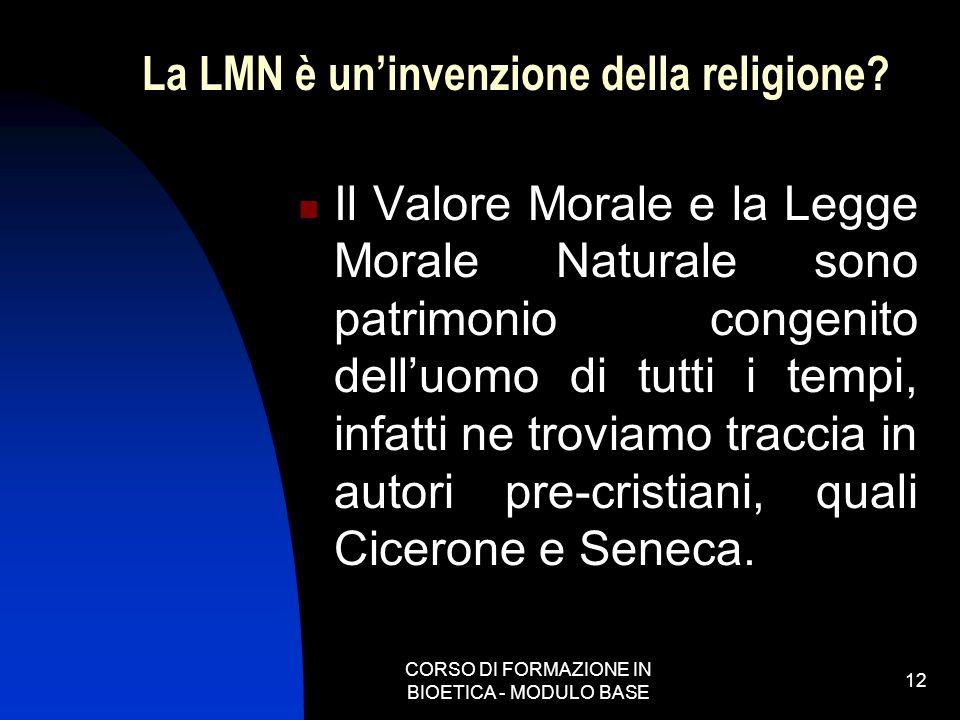 La LMN è un'invenzione della religione