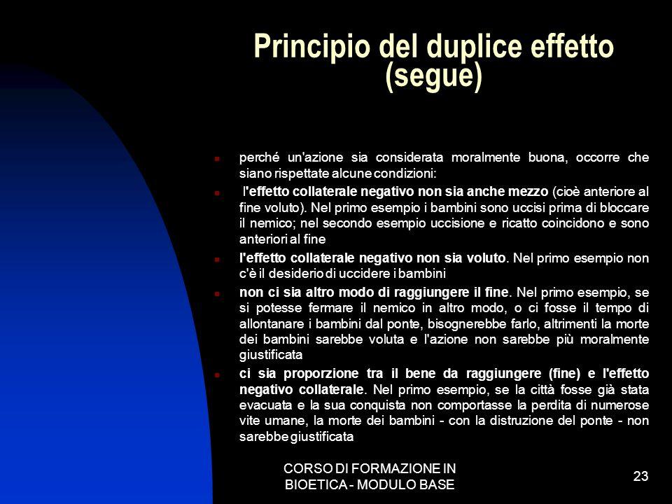 Principio del duplice effetto (segue)