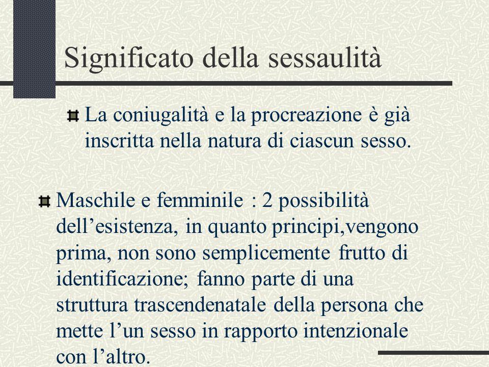 Significato della sessaulità