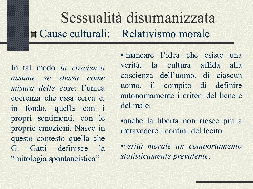 Sessualità disumanizzata