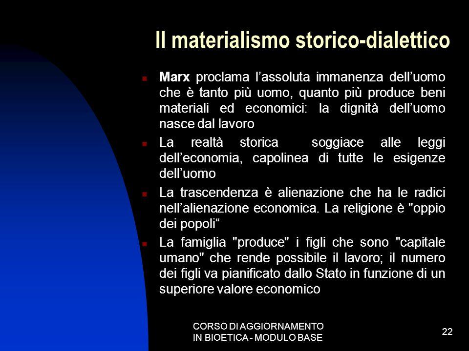 Il materialismo storico-dialettico