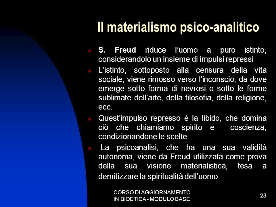 Il materialismo psico-analitico