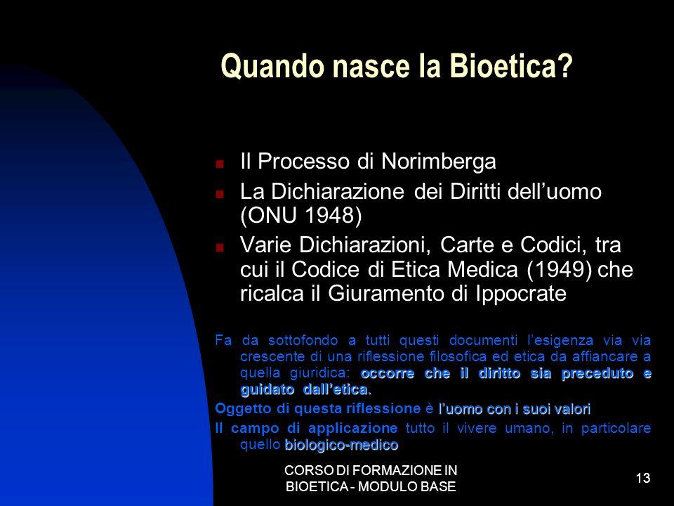 Quando nasce la Bioetica