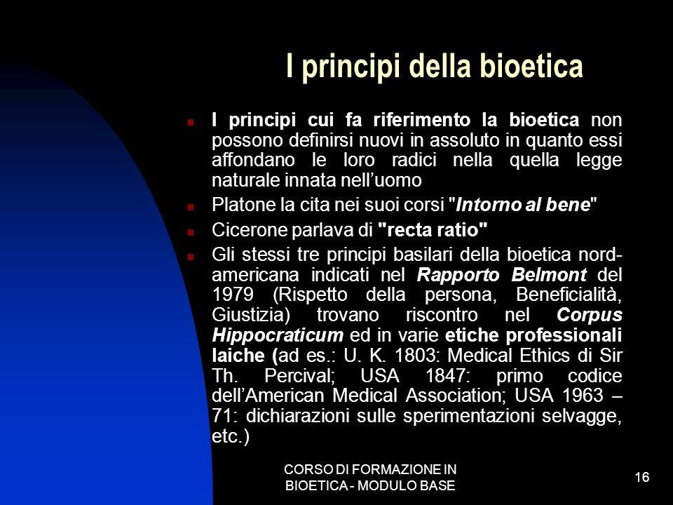 I principi della bioetica