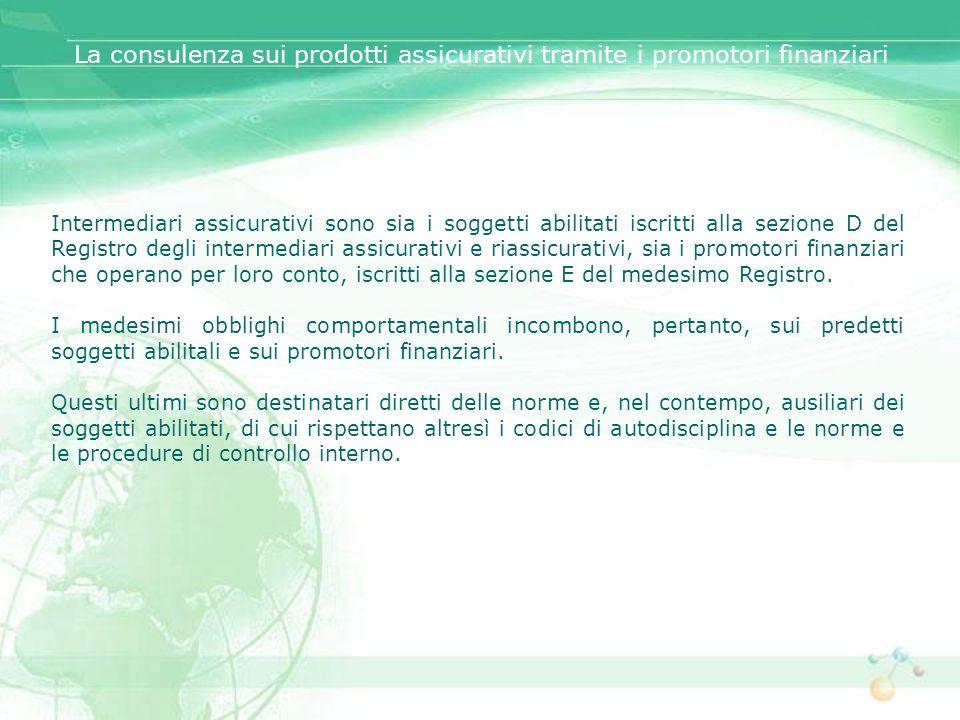 La consulenza sui prodotti assicurativi tramite i promotori finanziari