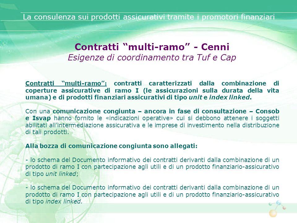 Contratti multi-ramo - Cenni