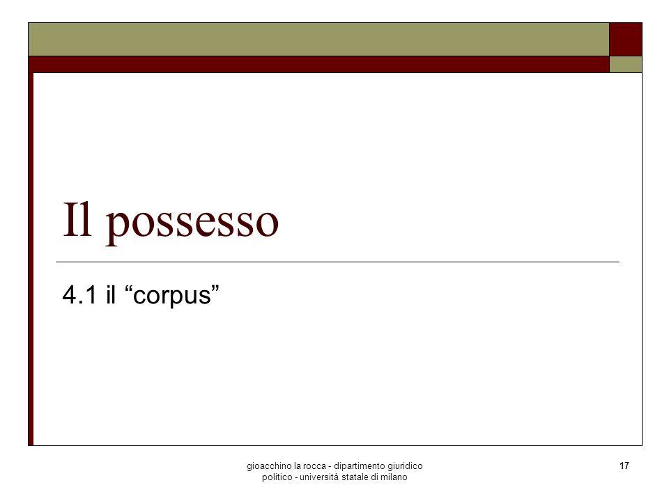 Il possesso 4.1 il corpus