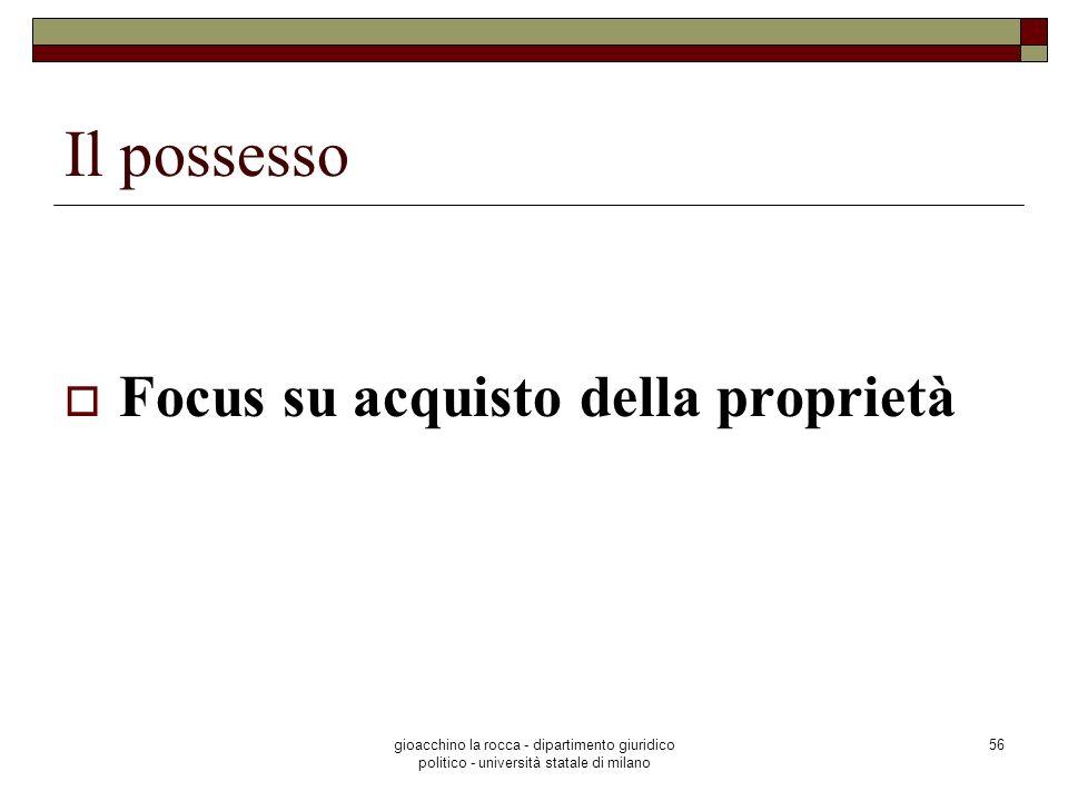 Il possesso Focus su acquisto della proprietà