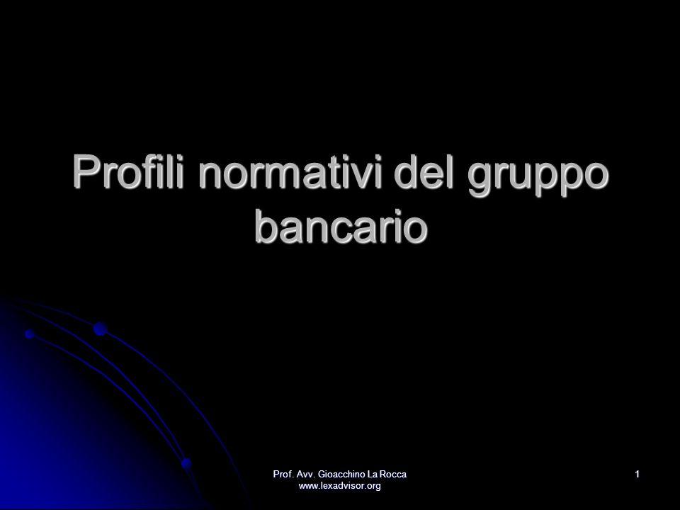 Profili normativi del gruppo bancario