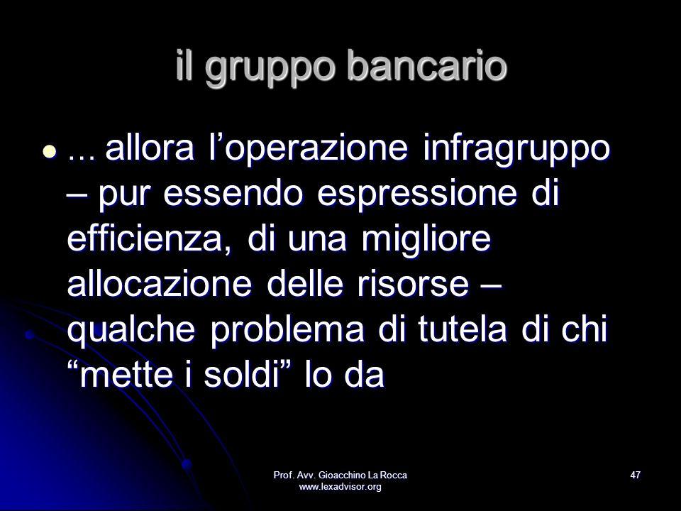 Prof. Avv. Gioacchino La Rocca www.lexadvisor.org