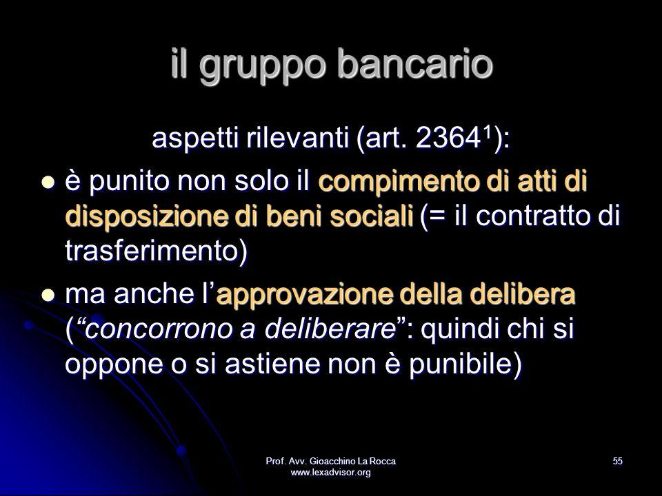 il gruppo bancario aspetti rilevanti (art. 23641):