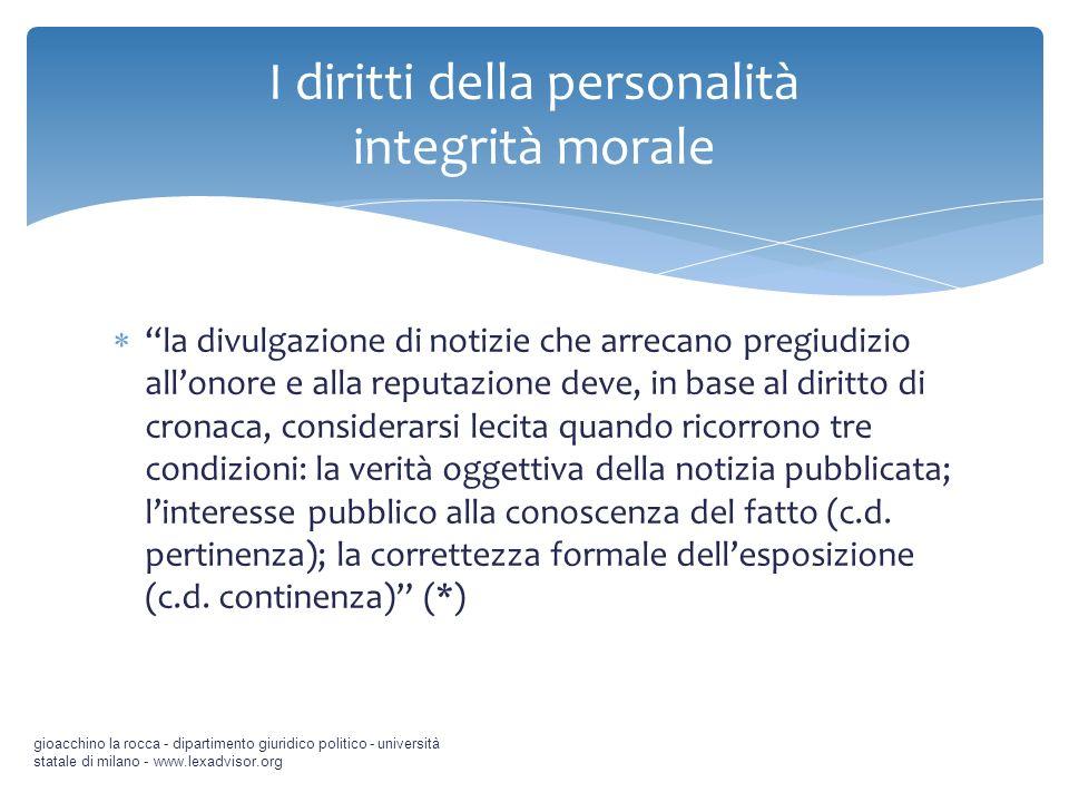 I diritti della personalità integrità morale