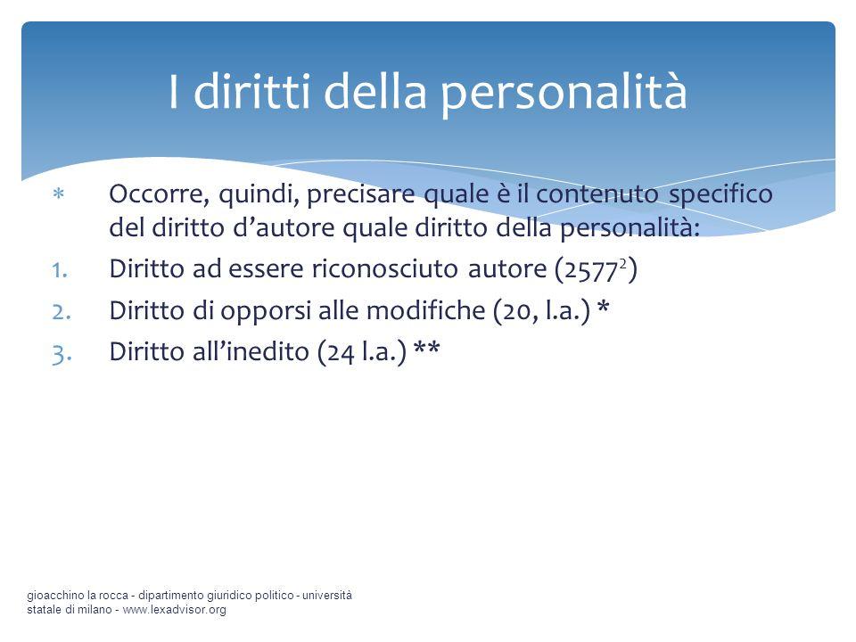 I diritti della personalità