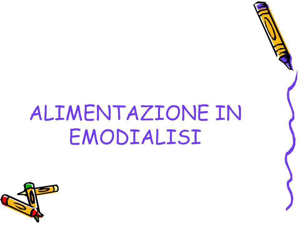 ALIMENTAZIONE IN EMODIALISI