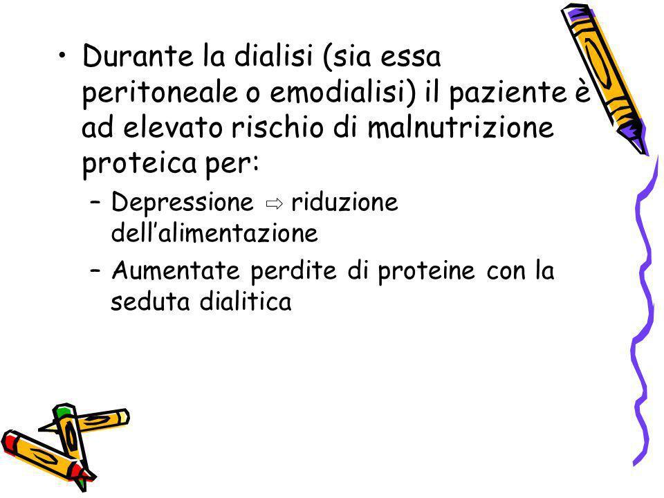 Durante la dialisi (sia essa peritoneale o emodialisi) il paziente è ad elevato rischio di malnutrizione proteica per:
