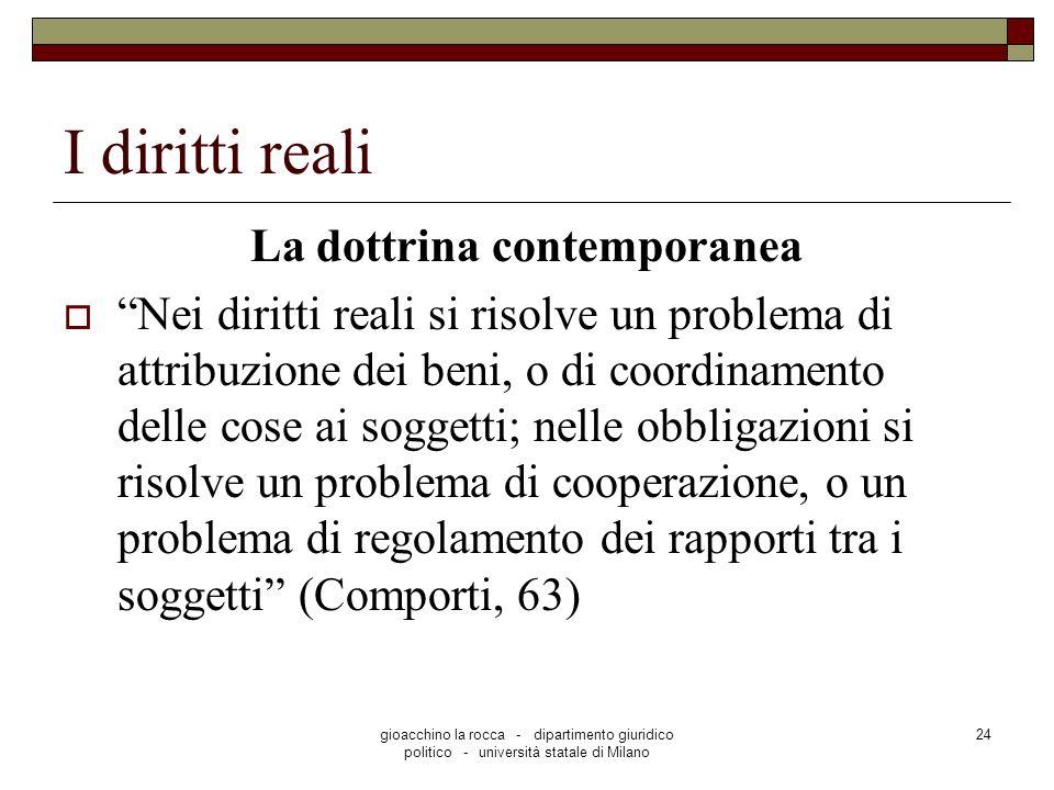 La dottrina contemporanea