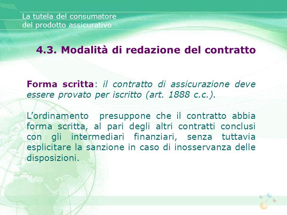 4.3. Modalità di redazione del contratto