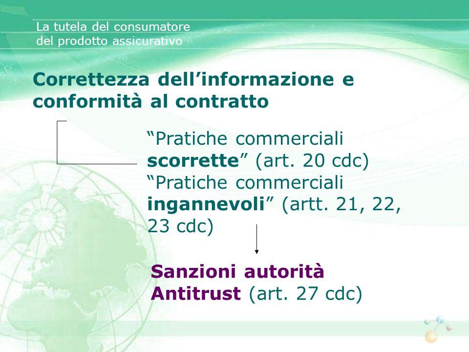 Correttezza dell'informazione e conformità al contratto