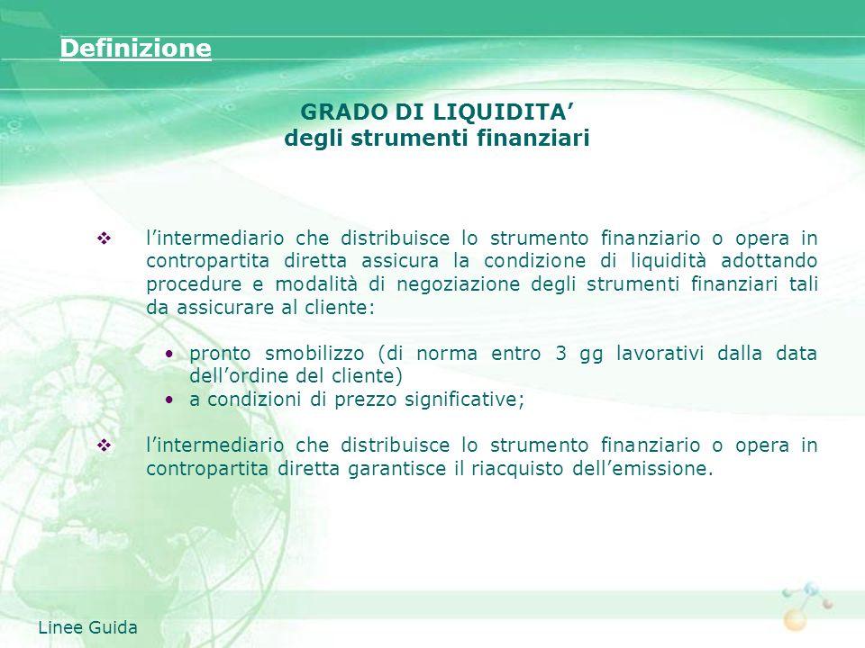 degli strumenti finanziari