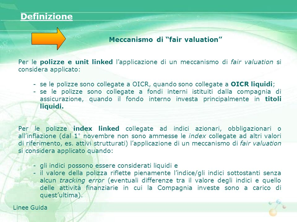 Meccanismo di fair valuation