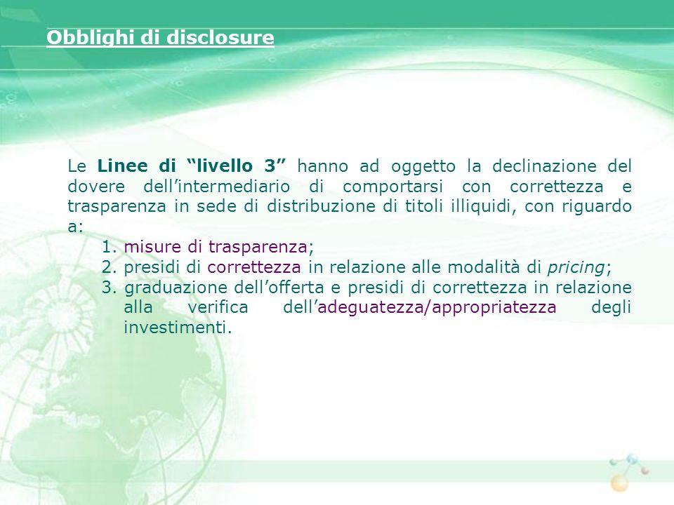 Obblighi di disclosure