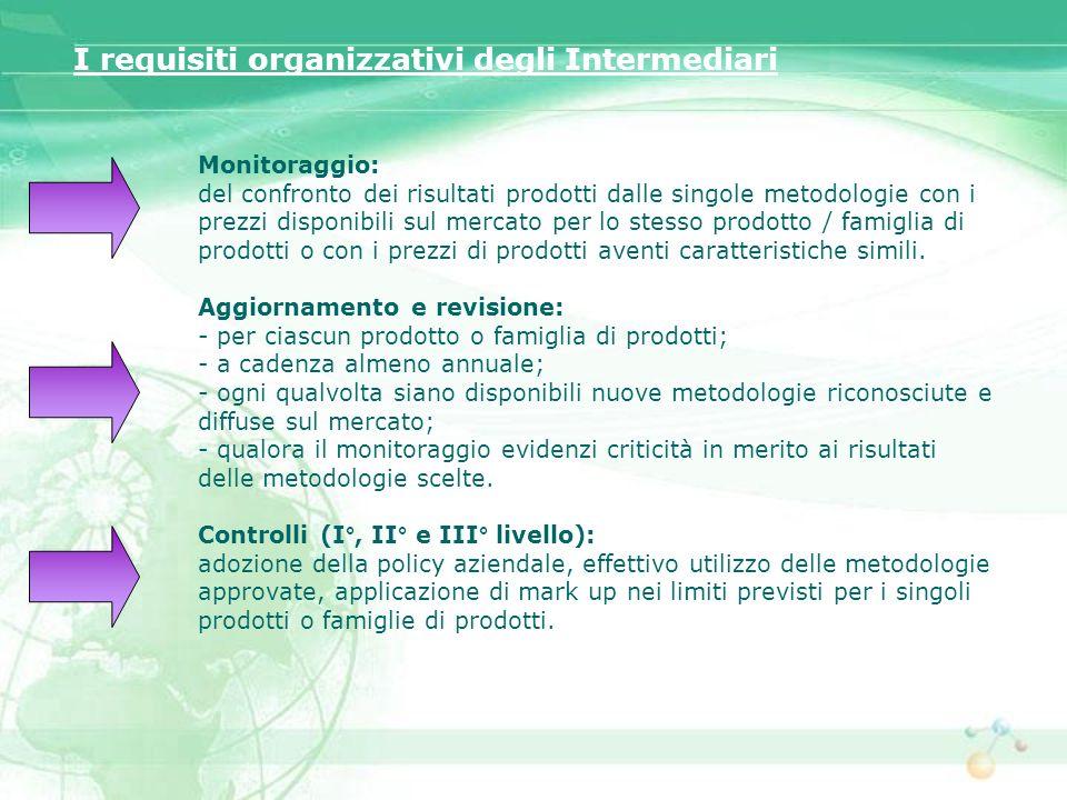I requisiti organizzativi degli Intermediari