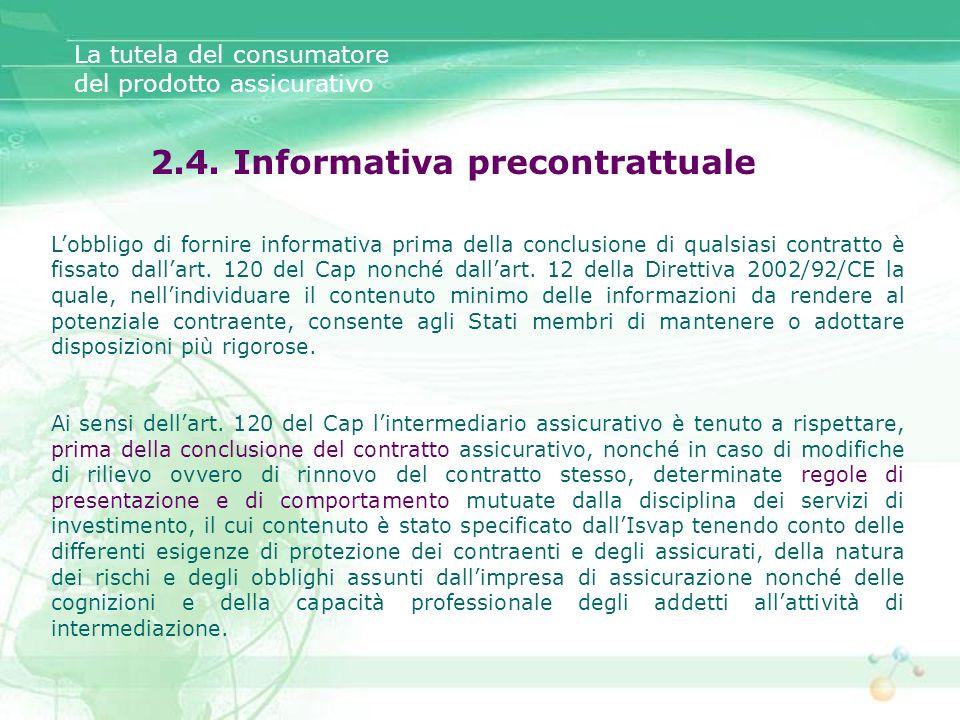 2.4. Informativa precontrattuale