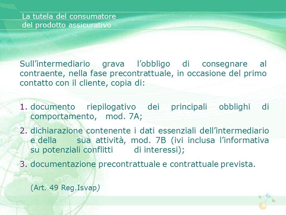 documentazione precontrattuale e contrattuale prevista.