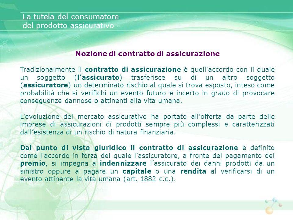 Nozione di contratto di assicurazione