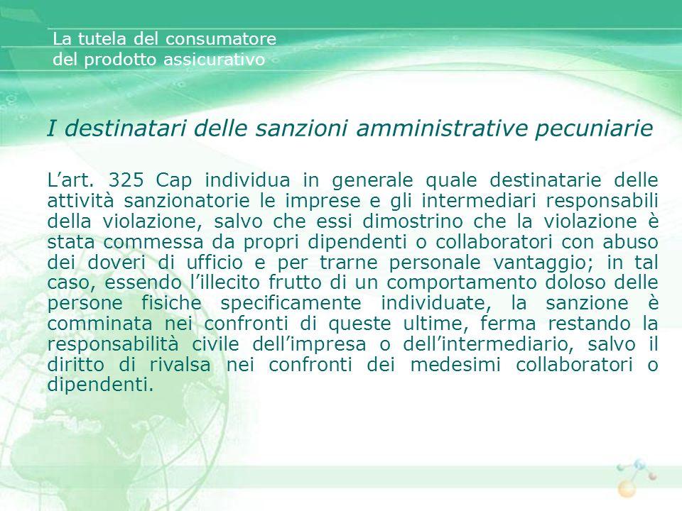 I destinatari delle sanzioni amministrative pecuniarie