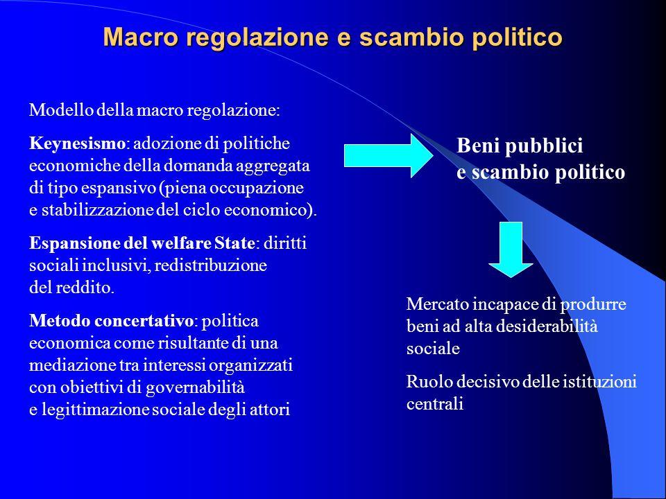 Macro regolazione e scambio politico