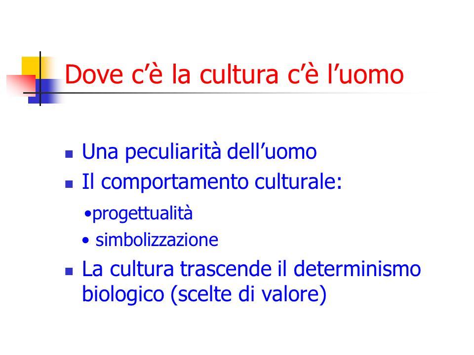 Dove c'è la cultura c'è l'uomo