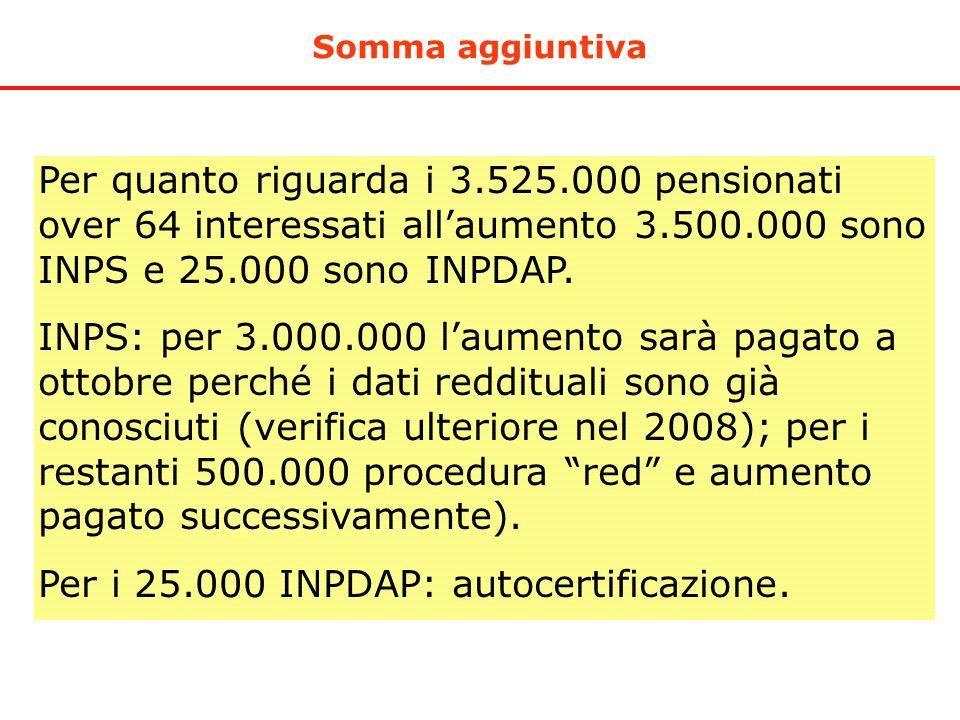 Per i 25.000 INPDAP: autocertificazione.